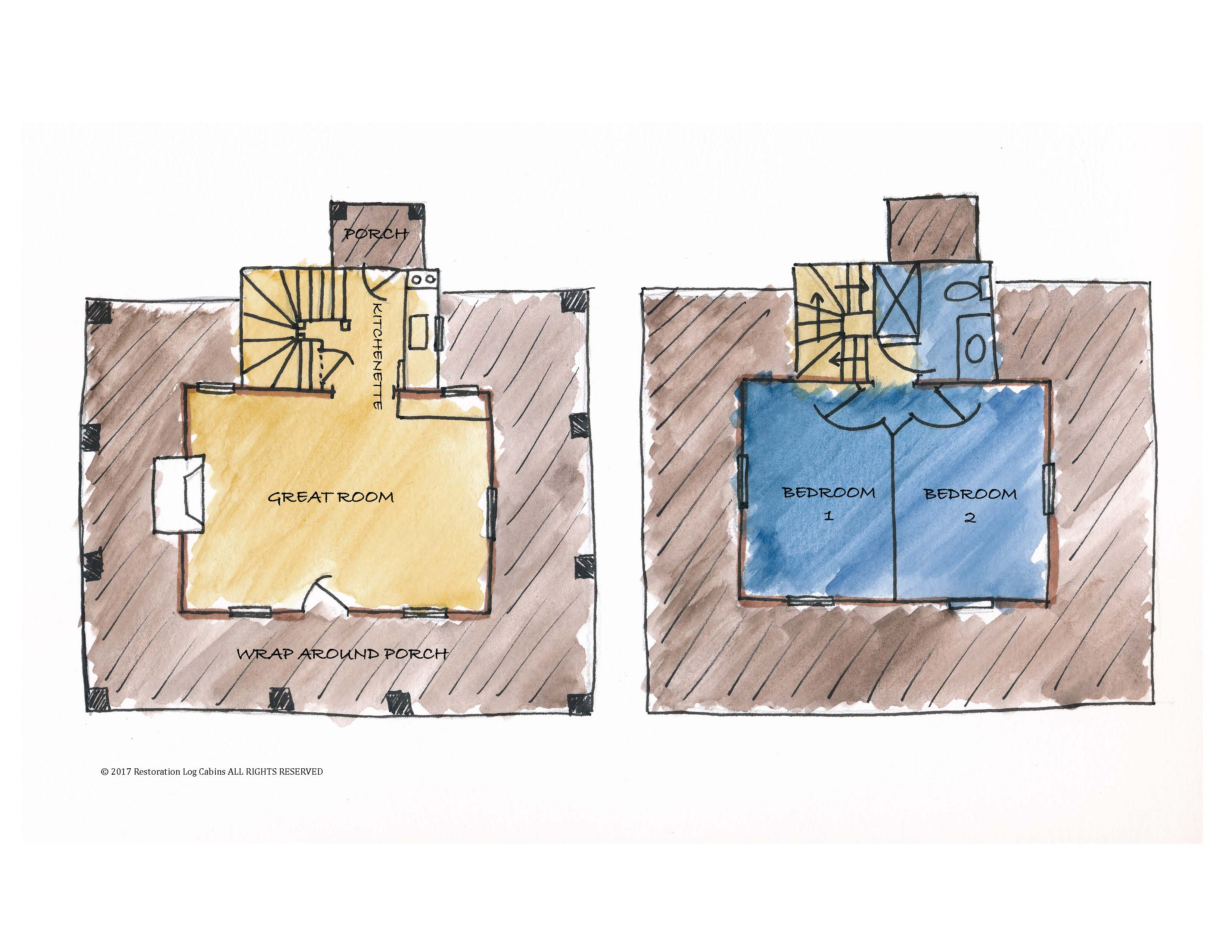 O'Dell Cabin Plan Labeled