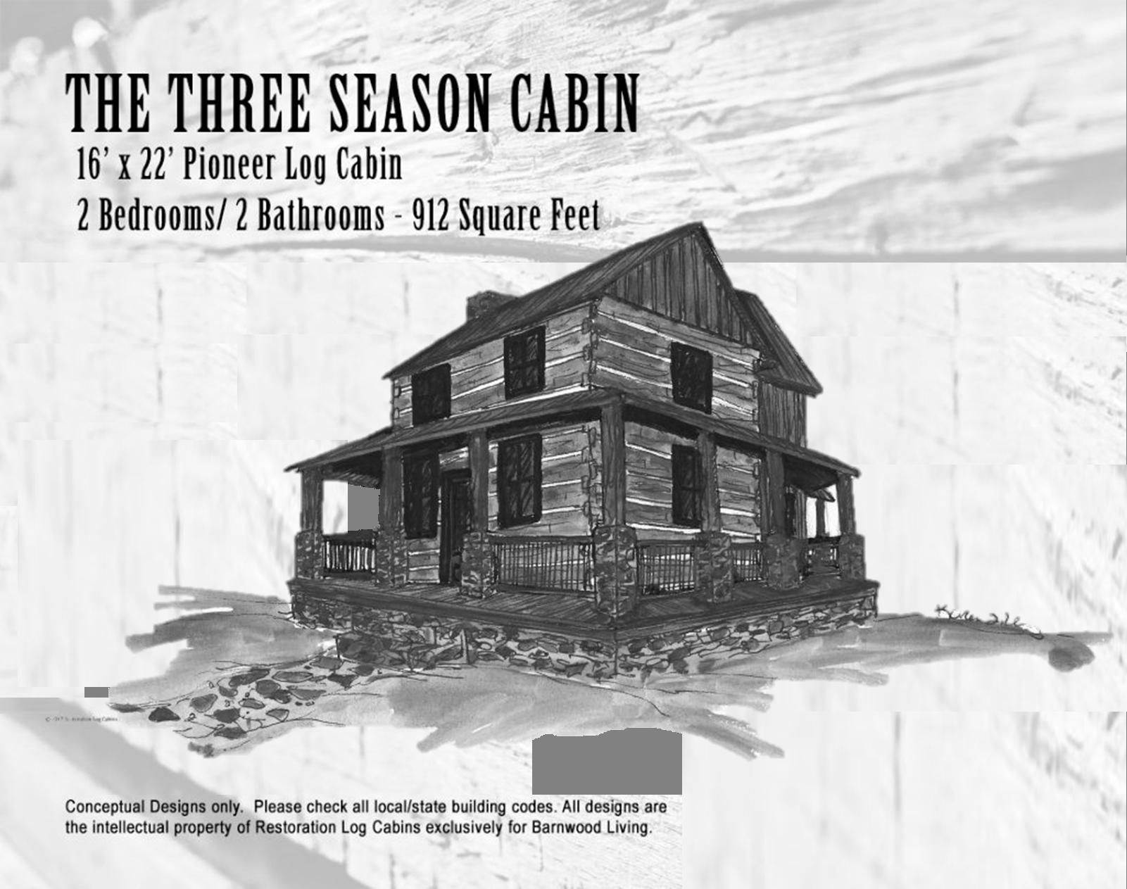 Three Season cabin front