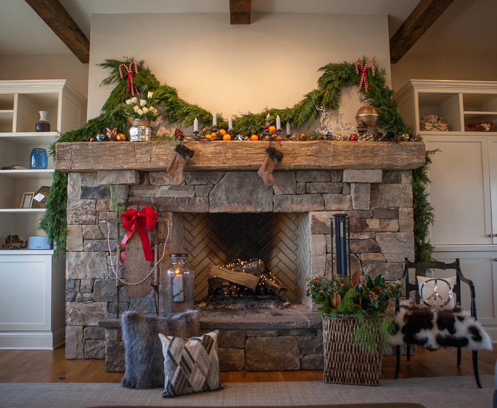 Dressing Up Your Beam Mantel For Christmas Barnwood Living
